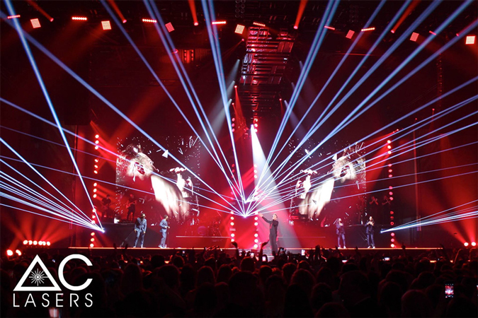 Laser Show for Olly Murs UK Tour 2017